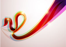 3D lines. 3D colorful lines. Abstract  background Stock Photography
