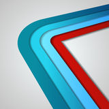 3D  lines in retro style Stock Images
