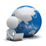 3d litet folk - global kommunikation Royaltyfri Bild