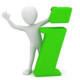 3d litet folk - info-symbol Fotografering för Bildbyråer