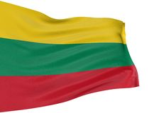 3D Lithuanian flag Royalty Free Stock Image