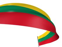 3D Lithuanian flag Royalty Free Stock Photography