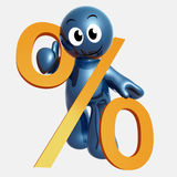 3d little icon with percentage discount sign Stock Image