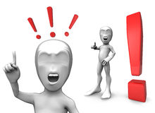 3d little person Royalty Free Stock Images