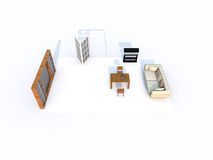 3d living room Royalty Free Stock Photos