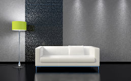 3d living room Royalty Free Stock Image