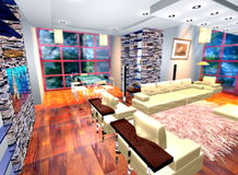 3D living space Stock Images