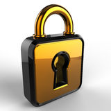 3d lock. Isolated 3d model on white background Royalty Free Illustration