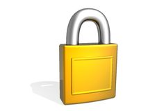 3d lock Royalty Free Stock Images