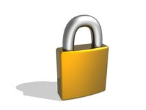 3d lock Royalty Free Stock Image