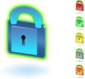 3D Lock Royalty Free Stock Photos