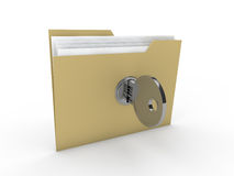 3d lock folder Stock Images