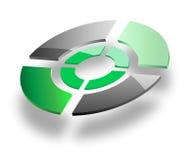3d logo Zdjęcie Royalty Free