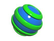 3D logo Obrazy Royalty Free