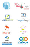 3D Logo. Set,illustration company identity pack Royalty Free Stock Images