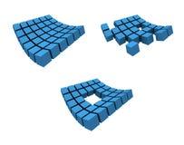 3d logo. A set of 3d logos for the same theme stock illustration