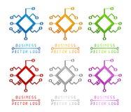 3d logo barwiona technologia royalty ilustracja