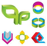 3d Logo elements Royalty Free Stock Image