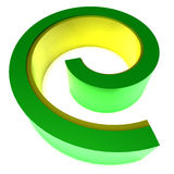 3D logo graphic swirl. A 3D graphic that can be used for logos or visual treatments Stock Photography