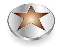 3D logo metallic star Royalty Free Stock Photography