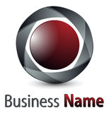3d logo sfera Zdjęcia Royalty Free