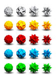 3D logos set. A set of three-dimensional objects for logos Stock Illustration