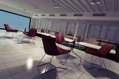 3d lounge render interior design Stock Image