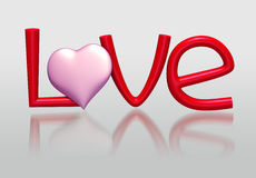3D LOVE Stock Photo
