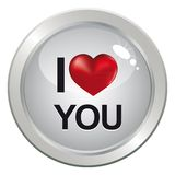 3d love button for couple Stock Images