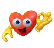 3d love character mascot Royalty Free Stock Photo
