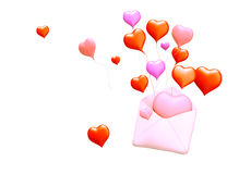 3D love mail Stock Photo