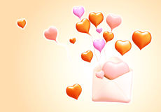 3D love mail Stock Image