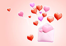 3D love mail Royalty Free Stock Image