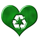 3D Love for Recycling Stock Photo
