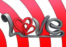 3D love text Royalty Free Stock Image