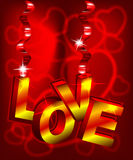 3d Love Text Stock Photo