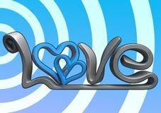 3D love text Stock Photos