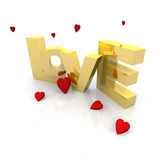 3d love text Stock Images
