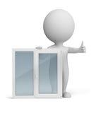3d ludzie małych okno royalty ilustracja