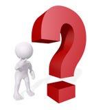 3d ludzki pytanie Zdjęcie Royalty Free