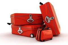 3d luggage on white royalty free illustration