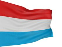 3D Luxembourg flag Stock Photography