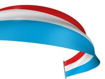 3D Luxembourg flag Royalty Free Stock Image
