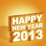 3D lyckligt nytt år 2013 Royaltyfri Fotografi