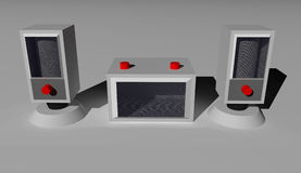 3D mówcy Obrazy Stock