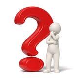 3d mężczyzna oceny pytania czerwieni główkowanie Obraz Royalty Free