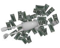 3d mężczyzna spławowy pieniądze royalty ilustracja