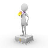 3D mężczyzna w pierwszy miejscu Obraz Royalty Free