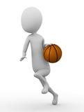 3D mężczyzna z koszykówką Obrazy Stock
