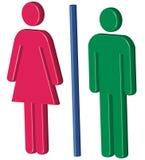 3d męskie żeńskie ikony Fotografia Royalty Free